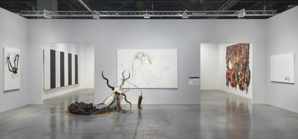 Installation view of Lehmann Maupin's booth at Art Basel Miami Beach 2018, view 2