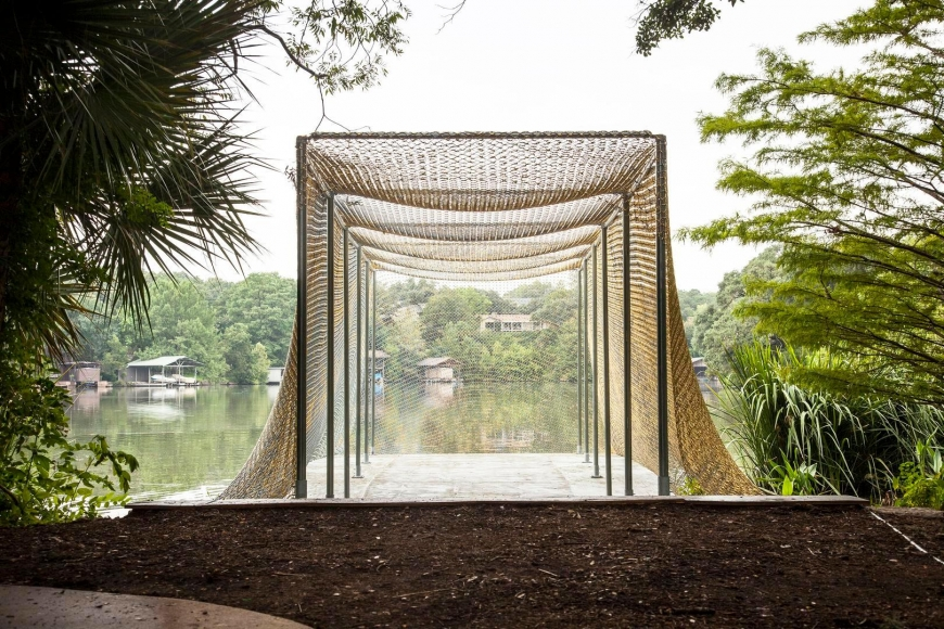 Installation view,Do Ho Suh, The Contemporary Austin –Betty and Edward Marcus Sculpture Park at Laguna Gloria