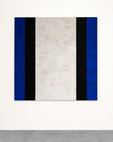 MARY CORSE Untitled (Blue, Black, White), 2015