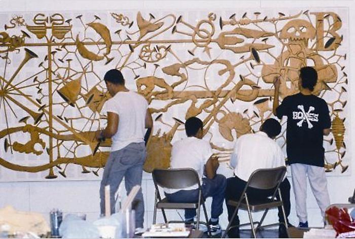 Tim Rollins and K.O.S. Workshop for Amerika IX, 1987. Mint Museum of Art, Charlotte, North Carolina.