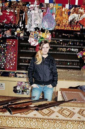 Mädchen in der Schiessbude, Erlangen, 2005