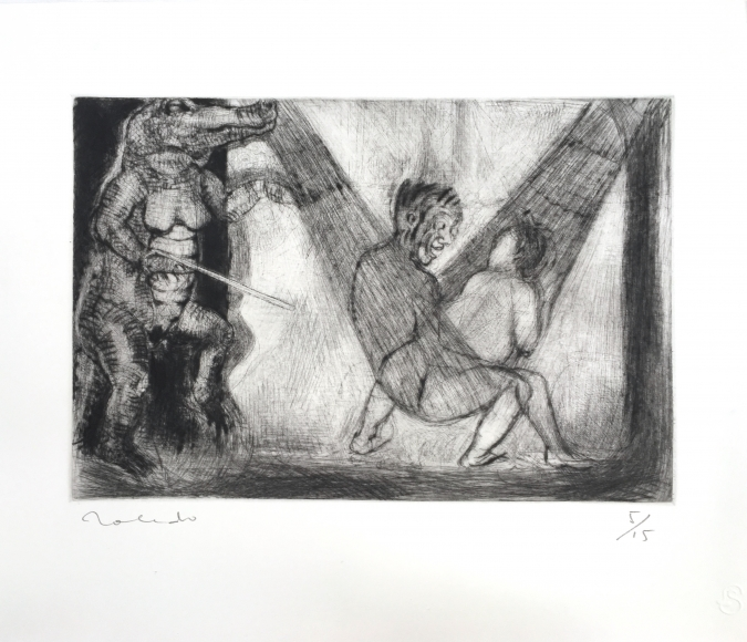 Francisco Toledo hammock etching