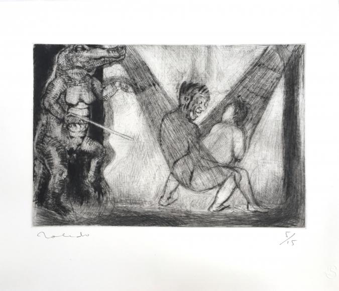 Francisco Toledo hammock etching