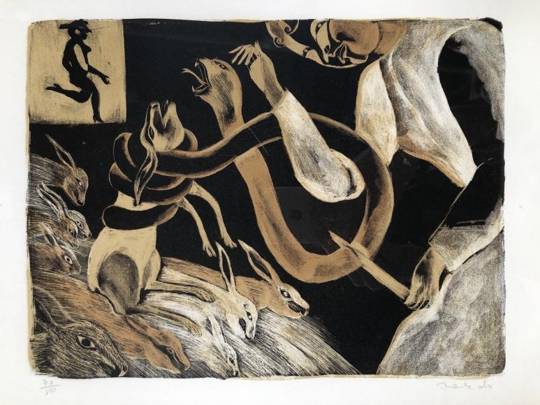 Francisco Toledo         Snakes and Rabbits, 1971