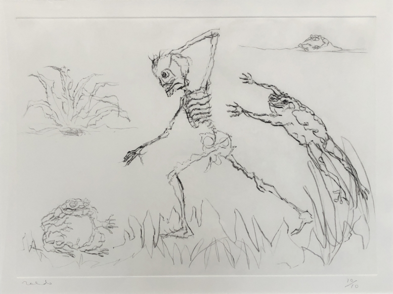 Francisco Toledo         Keleton with Frogs, c. 1990