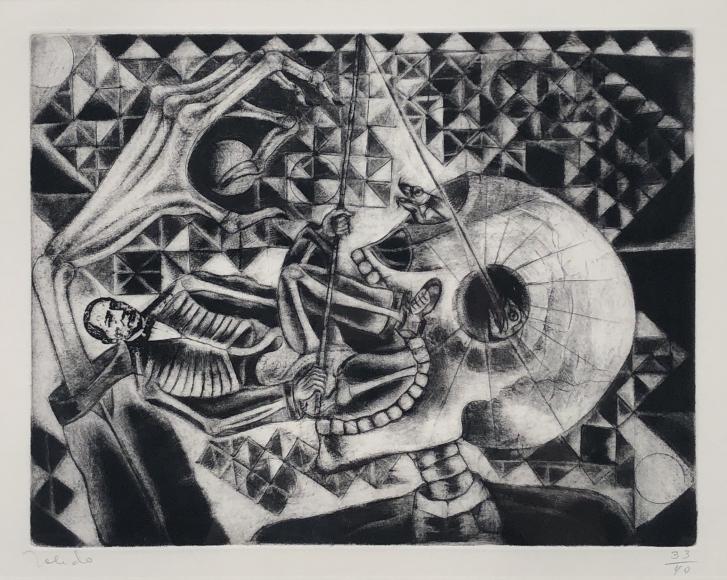 Francisco Toledo                   Juarez Fishing in the Orbit of the Skull, 1988