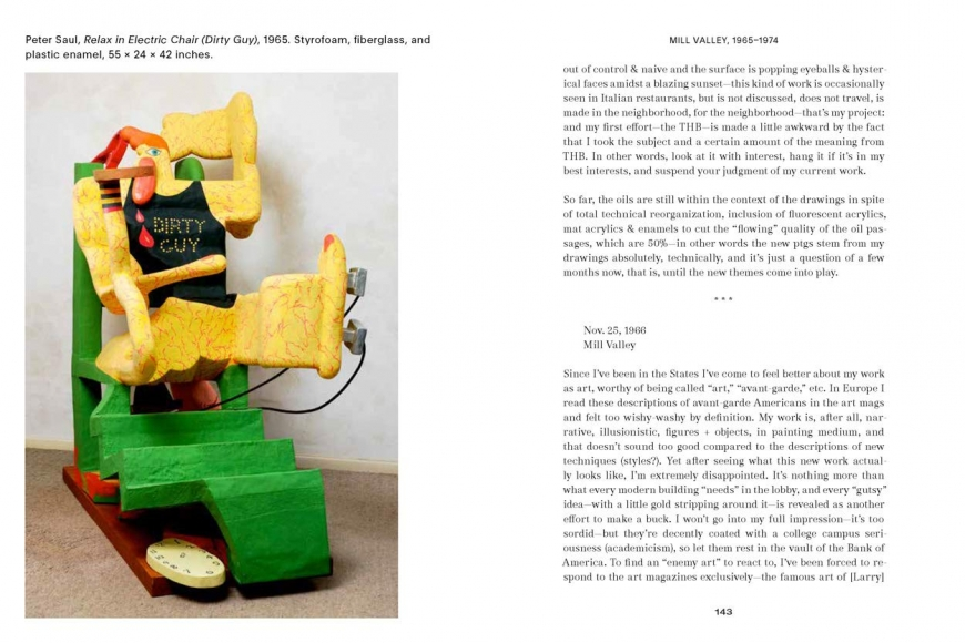 Image of pages from the book Peter Saul Professional Artist Correspondence 1945-1975