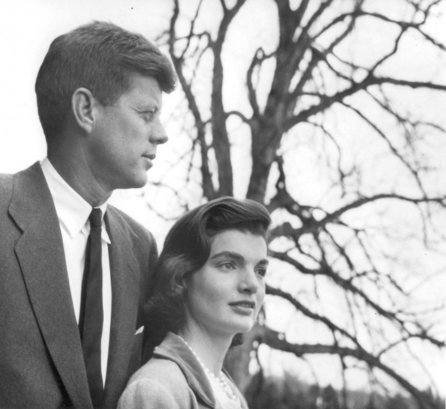 Louise Dahl-Wolf, Senator John F. and Jacqueline Kennedy at their home in Virginia, 1953