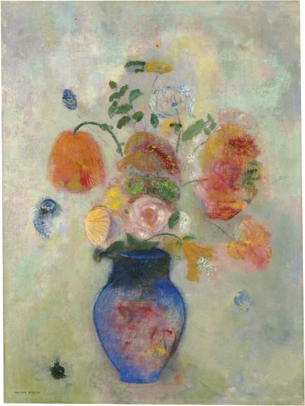 Odilon Redon, Bouquet de fleurs (Bouquet of Flowers), c. 1912, Oil on canvas, 28 ¾ x 21 ½ in. (73 x 54.6 cm), Inscribed, lower left: ODILON REDON, National Gallery of Art, Washington, D.C.