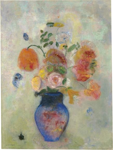Odilon Redon, Bouquet de fleurs (Bouquet of Flowers), c. 1912, Oil on canvas, 28 ¾ x 21 ½ in. (73 x 54.6 cm), Inscribed, lower left: ODILON REDON, National Gallery of Art, Washington, D.C.