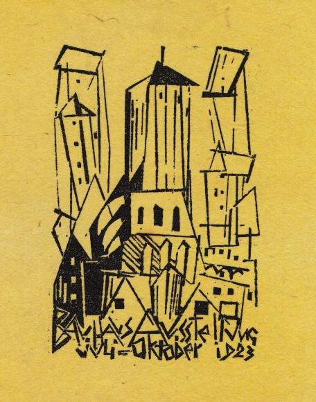 Church woodcut by Lyonel Feininger