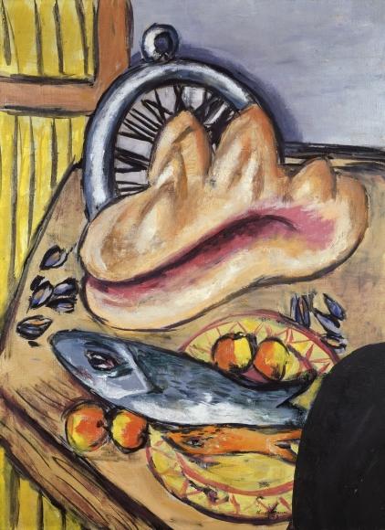 Max Beckmann (1884-1950)  Stillleben mit Fisch und Muschel, 1942, Oil on canvas