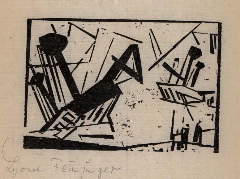 Wreck 2 woodcut by Lyonel Feininger