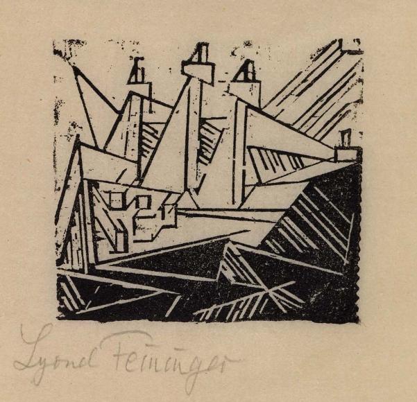 Three-masted Ship woodcut by Lyonel Feininger