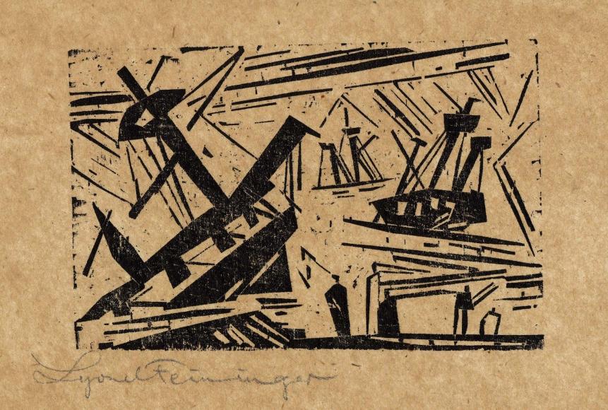 Wreck 1 woodcut by Lyonel Feininger