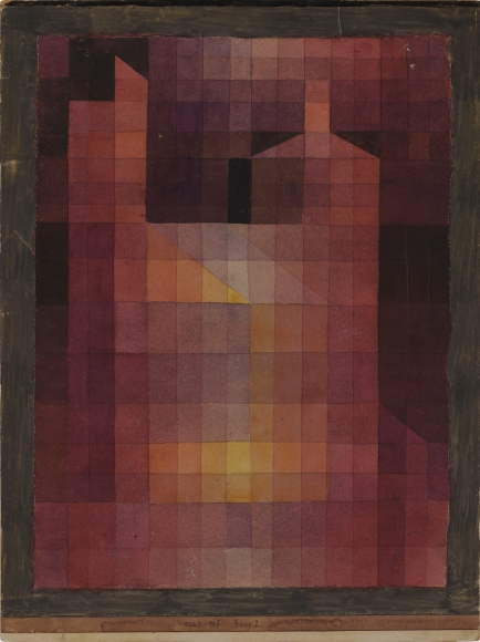 Paul Klee, Burg 2 (Castle 2), 1923, 107, Watercolor on paper, 12 x 8 9/10 in. (30.5 x 22.6 cm), Signed lower right: Klee, Dated, numbered, and titled on the artist's mount, lower center: 1923 107 Burg 2