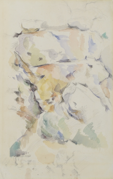 Rocks near the Caves above Chateau Noir bu Paul Cezanne