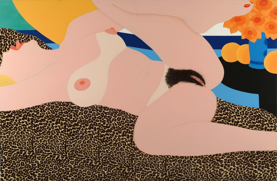 Tom Wesselman, Great American Nude #87, 1966-1967, Acrylic and collage on plywood, 45 x 67 in. (114.3 x 170.2 cm), Signature on reverse: Wesselmann 67