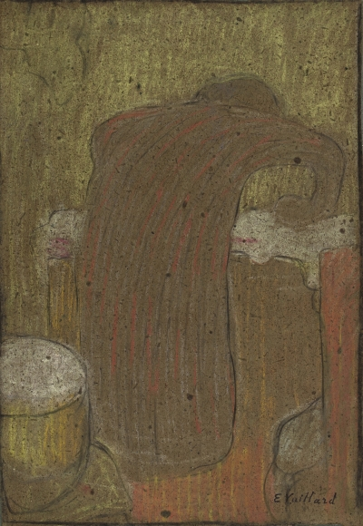 Édouard Vuillard (1868-1940), La repasseuse (Woman ironing), c. 1890, Pastel and charcoal on paper, 11 1/5 x 5 9/10 in. (28.5 x 15 cm), Stamped lower right: E. Vuillard