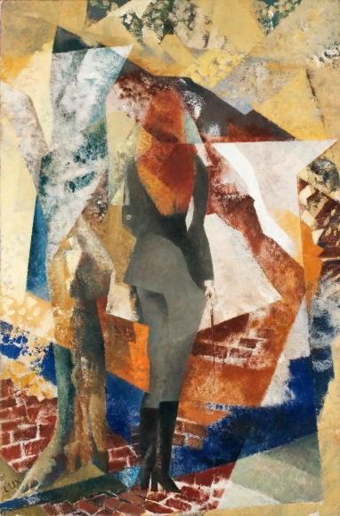 "T. Lux Feininger (1910-2011), Autumn St., 1967, Oil on canvas, 30 x 20 in. (76.2 x 50.8 cm), Signed on verso: LUX  T. Lux F. 1967 ""Autumn St"" [fin. Dec. 1971]"