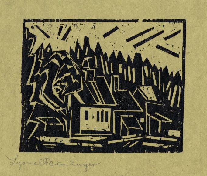 The Hunter's Lodge by Lyonel Feininger