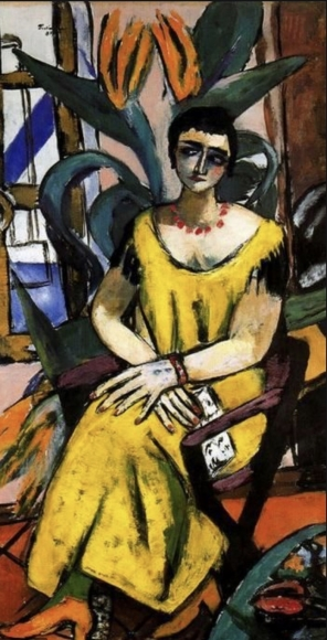 Max Beckmann (1884 - 1950) Portrait with Birds of Paradise, 1937 Oil on canvas