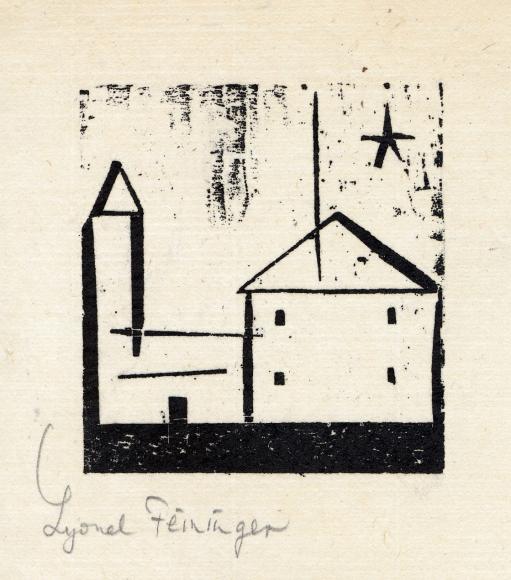 Church with Star woodcut by Lyonel Feininger