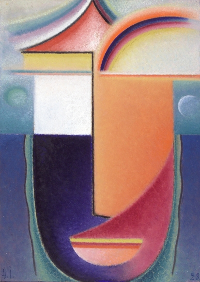 Alexej von Jawlensky, Abstrakter Kopf: Erscheinung (Abstract Head: Apparition), 1928, Oil on board, 17 ¾ x 12 ¾ in. (45.1 x 32.4 cm)