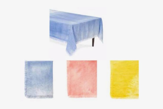 Hand Dyed Belgian Linen Tablecloth