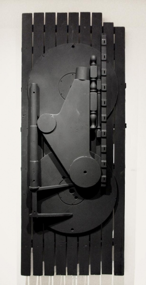 Louise NevelsonUntitled, 1981 Painted wood. 92 x 35 x 3 3/4 inches