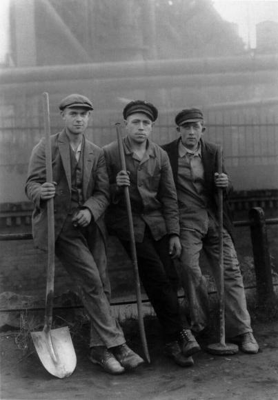 August Sander - Workmen in the Ruhr, c. 1928  | Bruce Silverstein Gallery