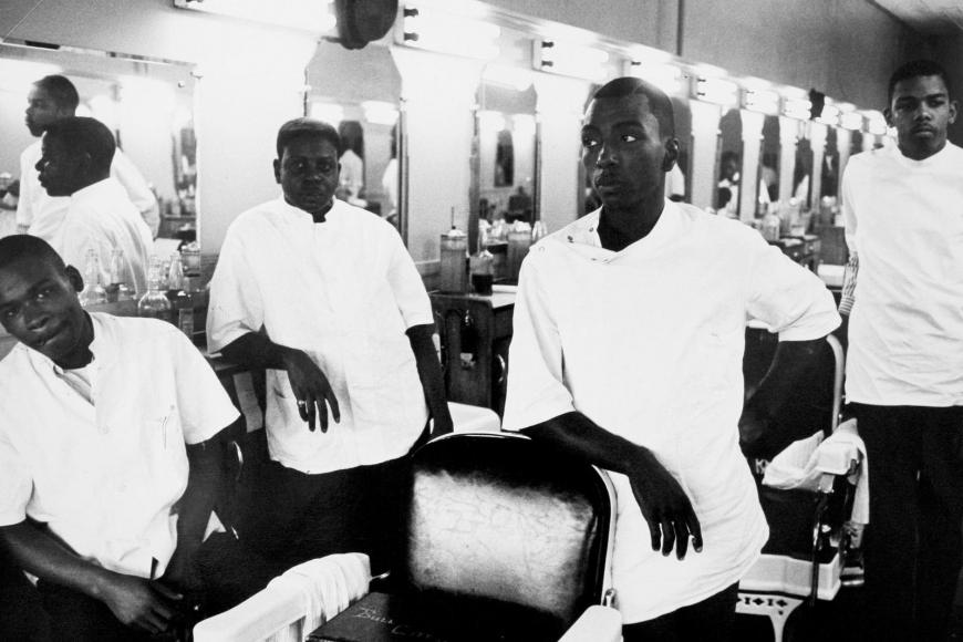 Leonard Freed - Black in White America, Brooklyn, New York, 1964  | Bruce Silverstein Gallery