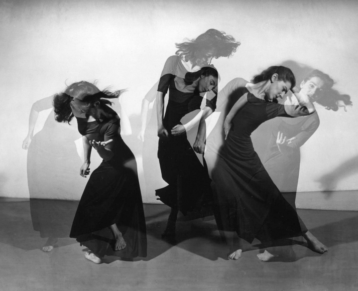 Barbara Morgan - Martha Graham, American Document (Trio), 1938 Gelatin silver print mounted to board, printed later | Bruce Silverstein Gallery