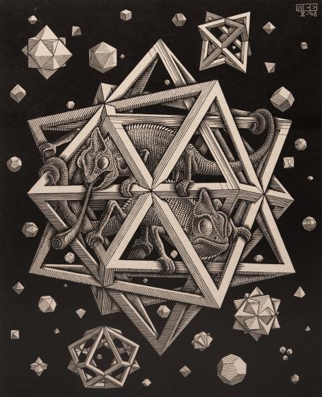 M.C. Escher, Stars, October 1948