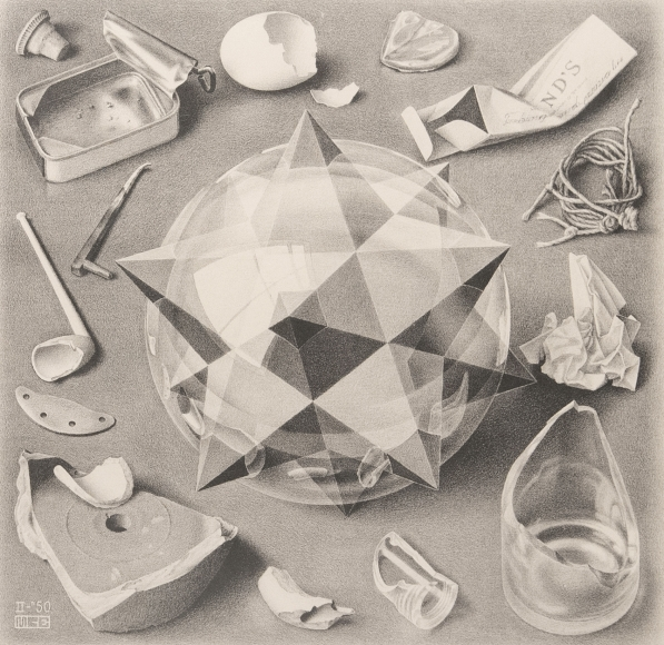 M.C. Escher, Contrast (Order and Chaos),1950
