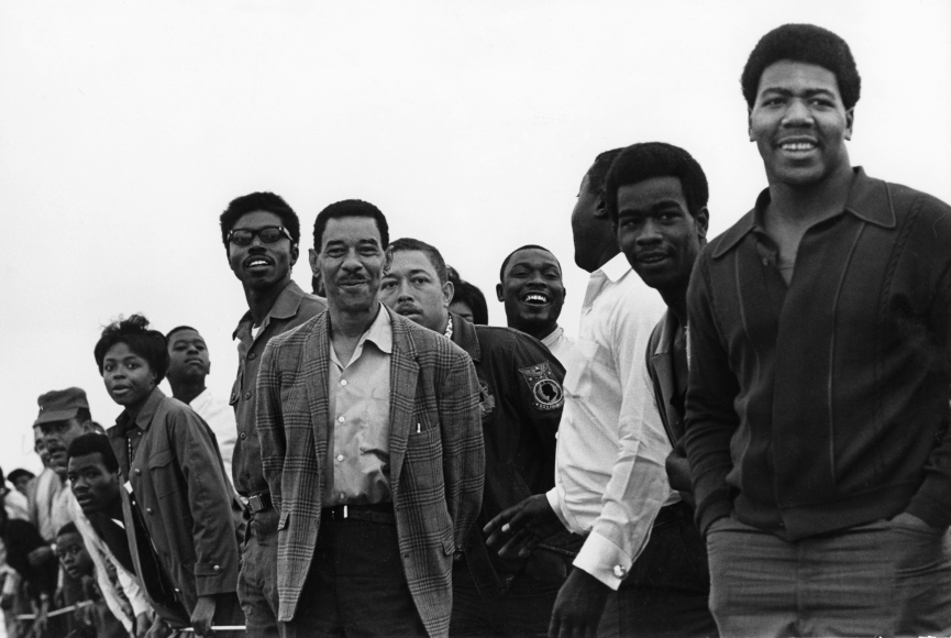 Chester Higgins -  Watching the Drag Race, Tuskegee Alabama, 1969
