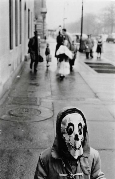 Frank Paulin - Mask, New York City, 1956 Gelatin silver print   Bruce Silverstein Gallery