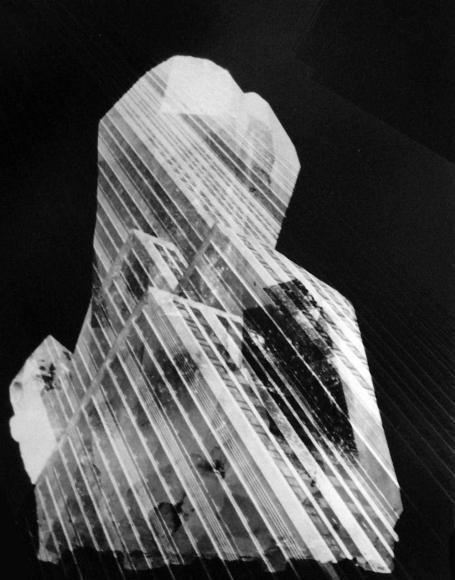 Barbara Morgan - Crystalized Skyscraper, 1973 Photogram mounted to board, printed 1973 | Bruce Silverstein Gallery