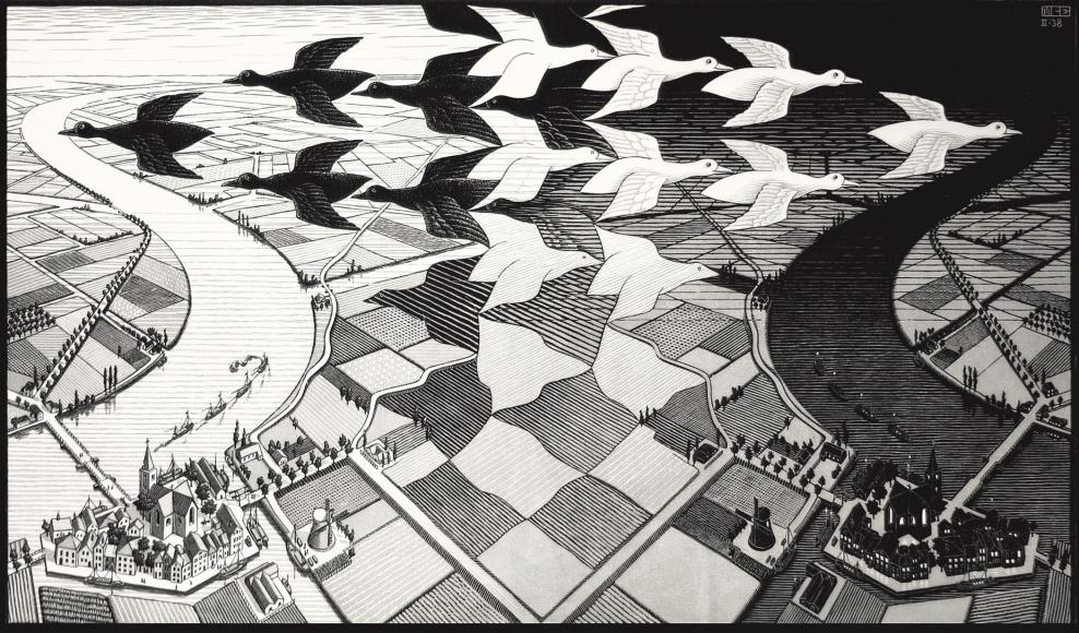M.C. Escher, Day and Night #303, 1938 | | Bruce Silverstein Gallery 2021