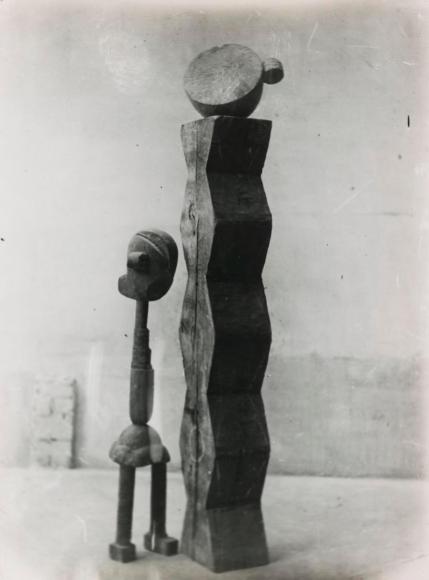 Constantin Brâncuşi - View of the Studio: Child in the World, c. 1917 | Bruce Silverstein Gallery