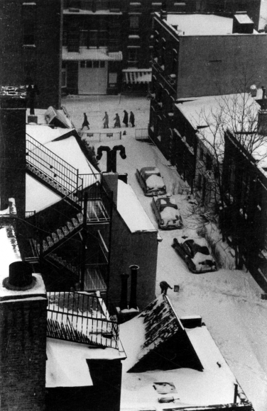 André Kertész - MacDougal Alley in Snow, December 5, 1967  ; Bruce Silverstein Gallery