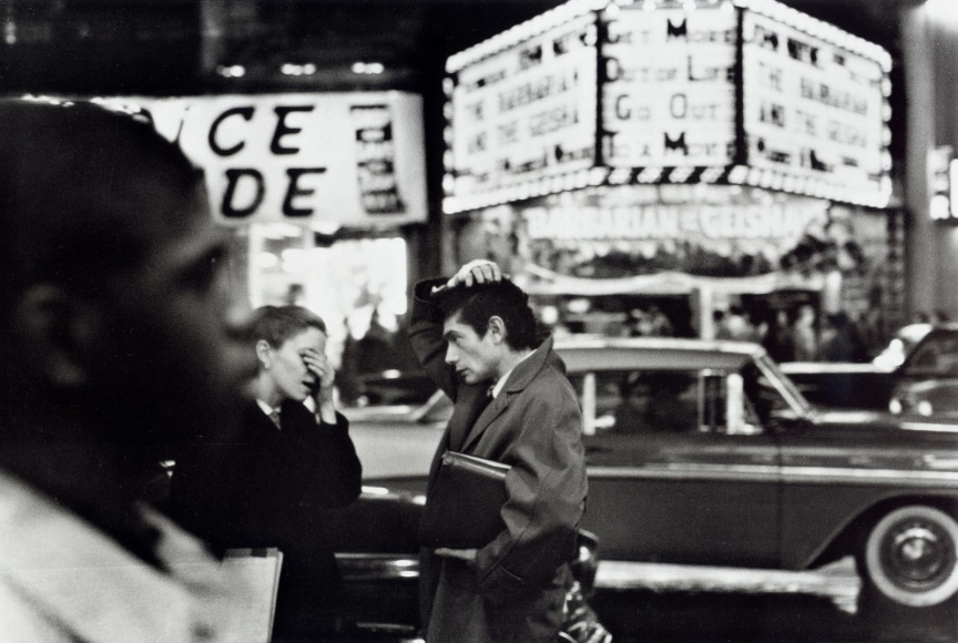 Frank Paulin - You Forgot the Tickets?!, Times Square, New York City, 1956 Gelatin silver print mounted to board, printed later | Bruce Silverstein Gallery