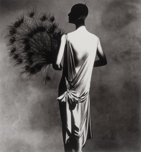 Irving Penn, Vionnet Dress with Fan, 1974