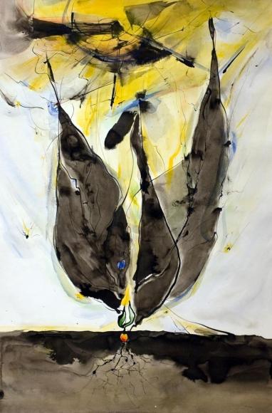 Barbara Morgan - Untitled, n.d. Watercolor on paper | Bruce Silverstein Gallery
