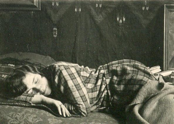 André KertészWoman Sleeping, c. 1925-36 Gelatin silver contact print, printed c. 1925-36. 1 1/2 x 2 1/8 inches