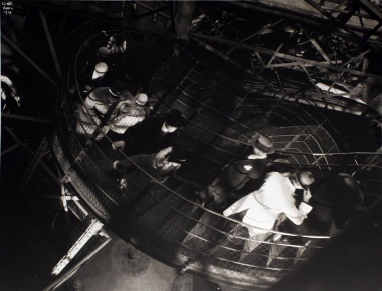 Ilse BingIt Was So Windy in the Eiffel Tower, Paris, 1931 Gelatin silver print, printed c. 1990. 11 x 14 inches