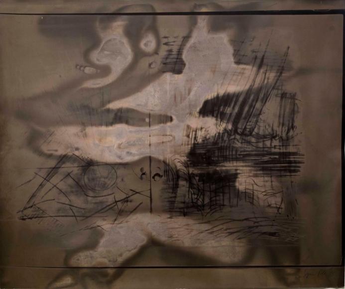 Sigmar Polke - Untitled, 1988 Gelatin silver photogram ; Bruce Silverstein Gallery