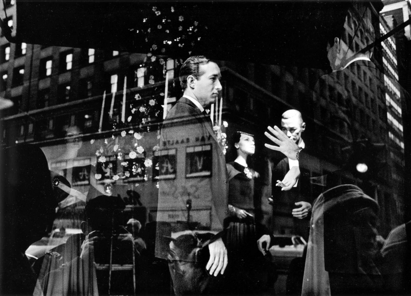 Frank Paulin - Lord and Taylor Window Dresses, New York City, 1955 Gelatin silver exhibition print mounted to board, printed c. 1955 | Bruce Silverstein Gallery