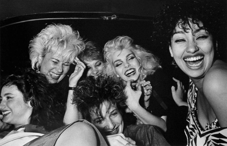 Ryan Weideman- Six Girls Crack Up, 1982 Gelatin silver print   Bruce Silverstein Gallery