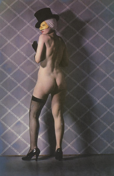 Paul Outerbridge - Nude with Mask and Hat, 1936 | Bruce Silverstein Gallery